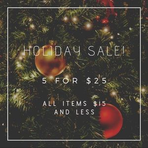 Holiday Sale!!